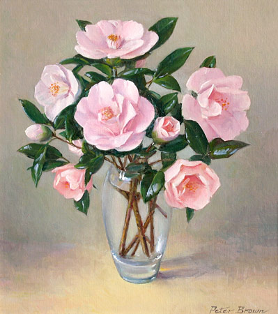 Fine Art by Peter Brown: Cho Cho San Camellias