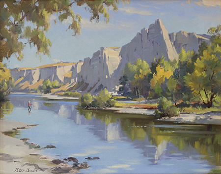 Fine Art by Peter Brown: Manuherikia River