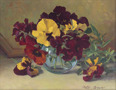 Fine Art by Peter Brown: Pansies