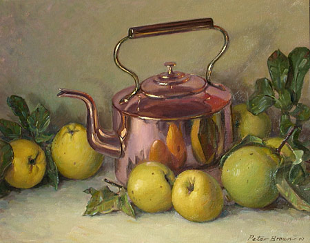 Fine Art by Peter Brown: Copper Kettle With Quinces